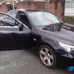 bmw 525 door glass replacement before photo